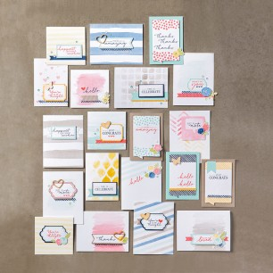 Watercolor Wishes kit makes 20 cards