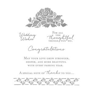 floral phrases stamp set