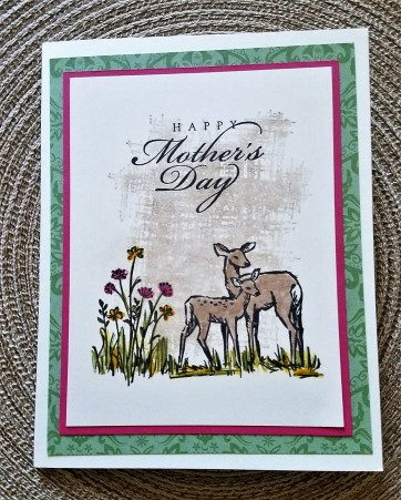 mothers day card - lisa using in the meadow