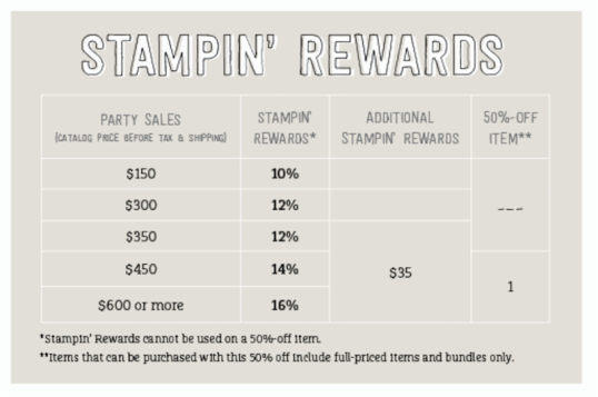 stampin rewards for june