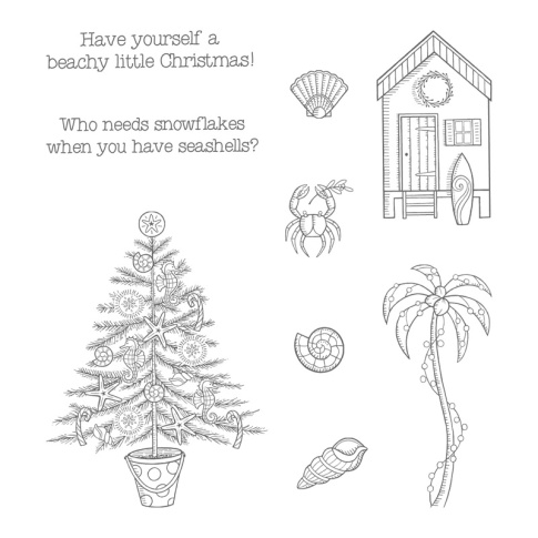 Beachy Little Christmas catalog stamp image