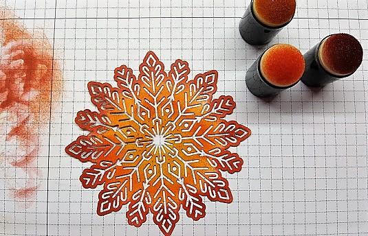 foil snowflakes 6 dauber