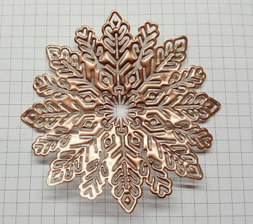 foil snowflakes 8 copper embossing whole