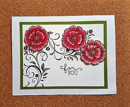 falling flowers card