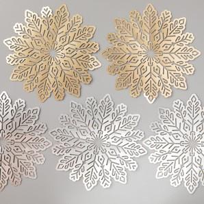 foil snowflakes catalog image
