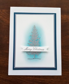 lovely as a tree blue Christmas card