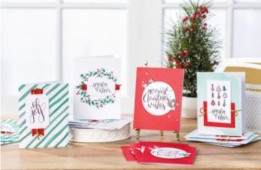 watercolor Christmas project kit samples
