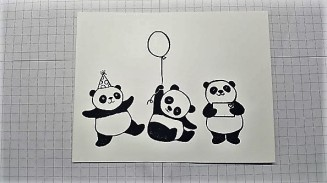 party panda adding three pandas