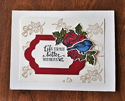 petal palette card in cherry cobbler and crumbcake