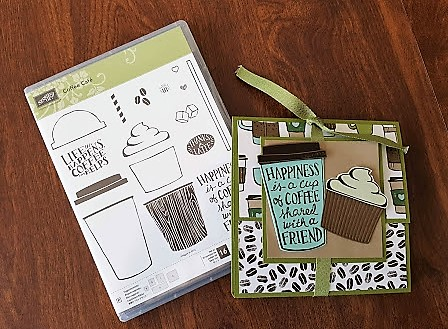 coffee cafe gift 4 with stamp set