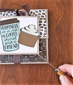 coffee cafe gift 8 insert glue dots