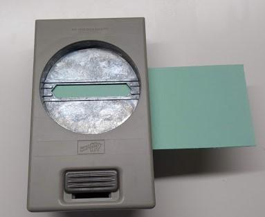 bag card holder using classic label punch left
