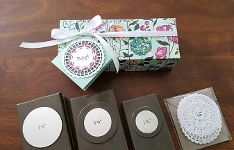 DSP box with punches and doily