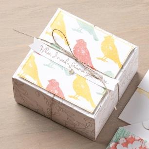 gift box punch board sample