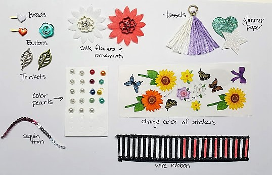 coordinate using blends - custom embellishments