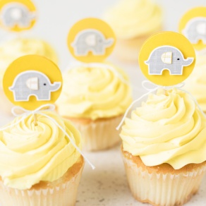 little elephant - daffodil delight cupcake treats