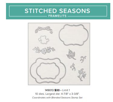 stitched season framelit dies