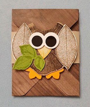 rooted in nature - owl gift card holder