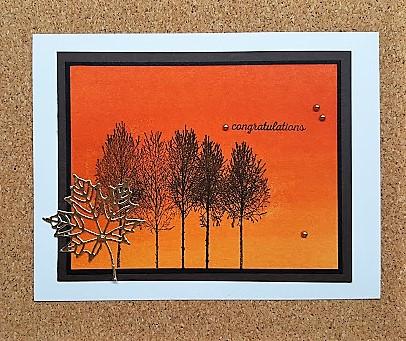 winter woods - orange with seasonal framelits die
