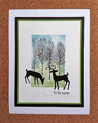 dashing deer with bokeh dots