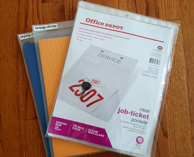 paper organization - job ticket pockets