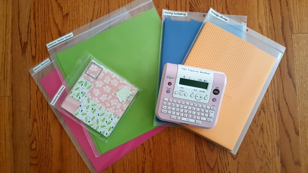 paper organization - ziplocks job ticket folder and label maker