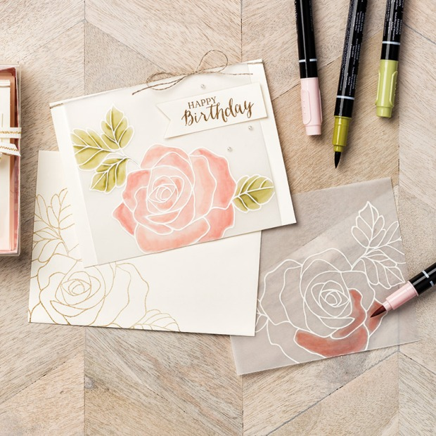 vellum heat embossing and coloring