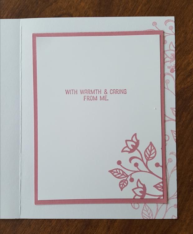 flourishing phrases inside rococo rose