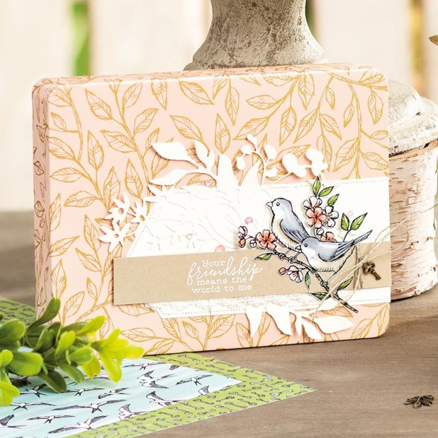 bird ballad laser-cut card decorated tin image