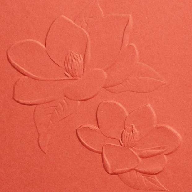 magnolia 3D embossing folder catalog