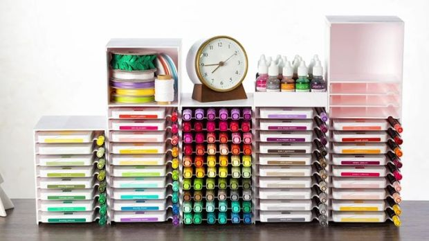 storage by stampin up with clock