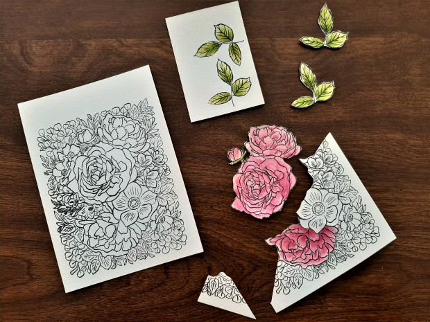 breathtaking bouquet stamp paper piecing images