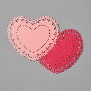 heart doilies catalog image