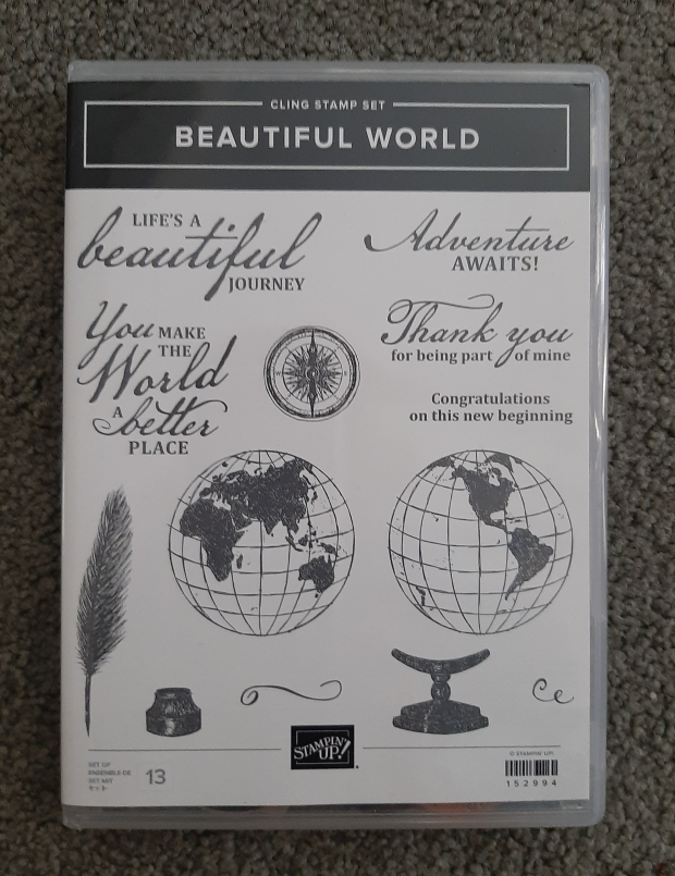 beautiful world stamp image