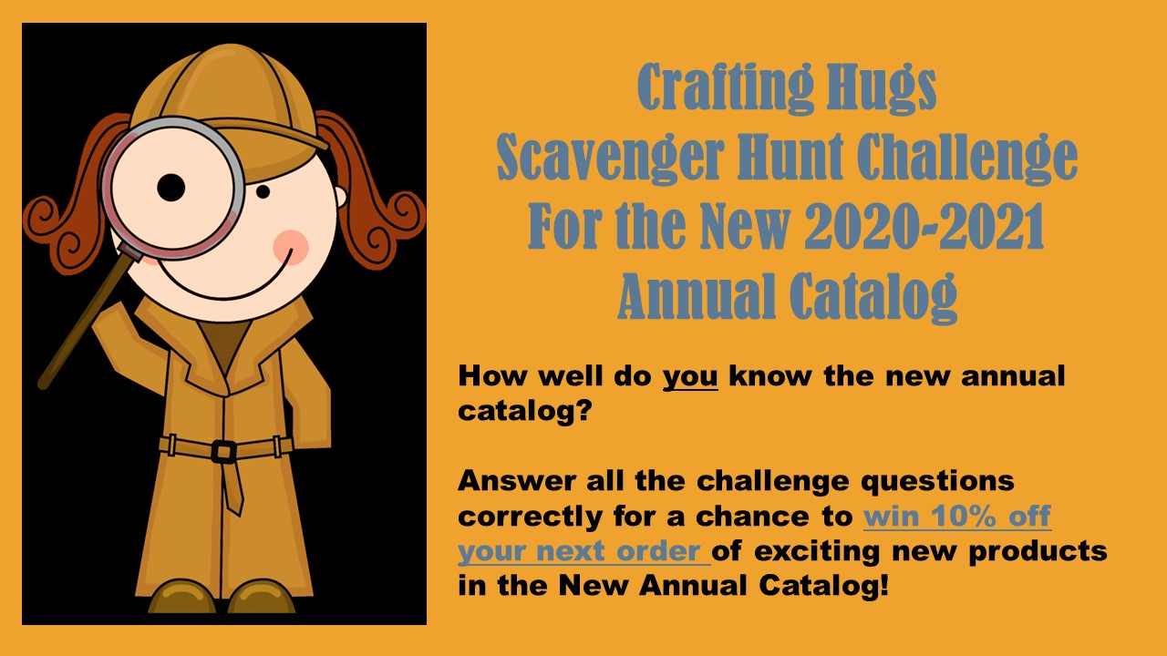 crafting hugs scavenger hunt banner