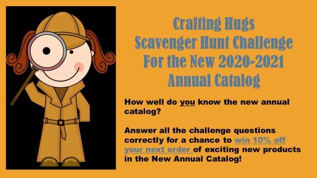 crafting hugs scavenger hunt banner
