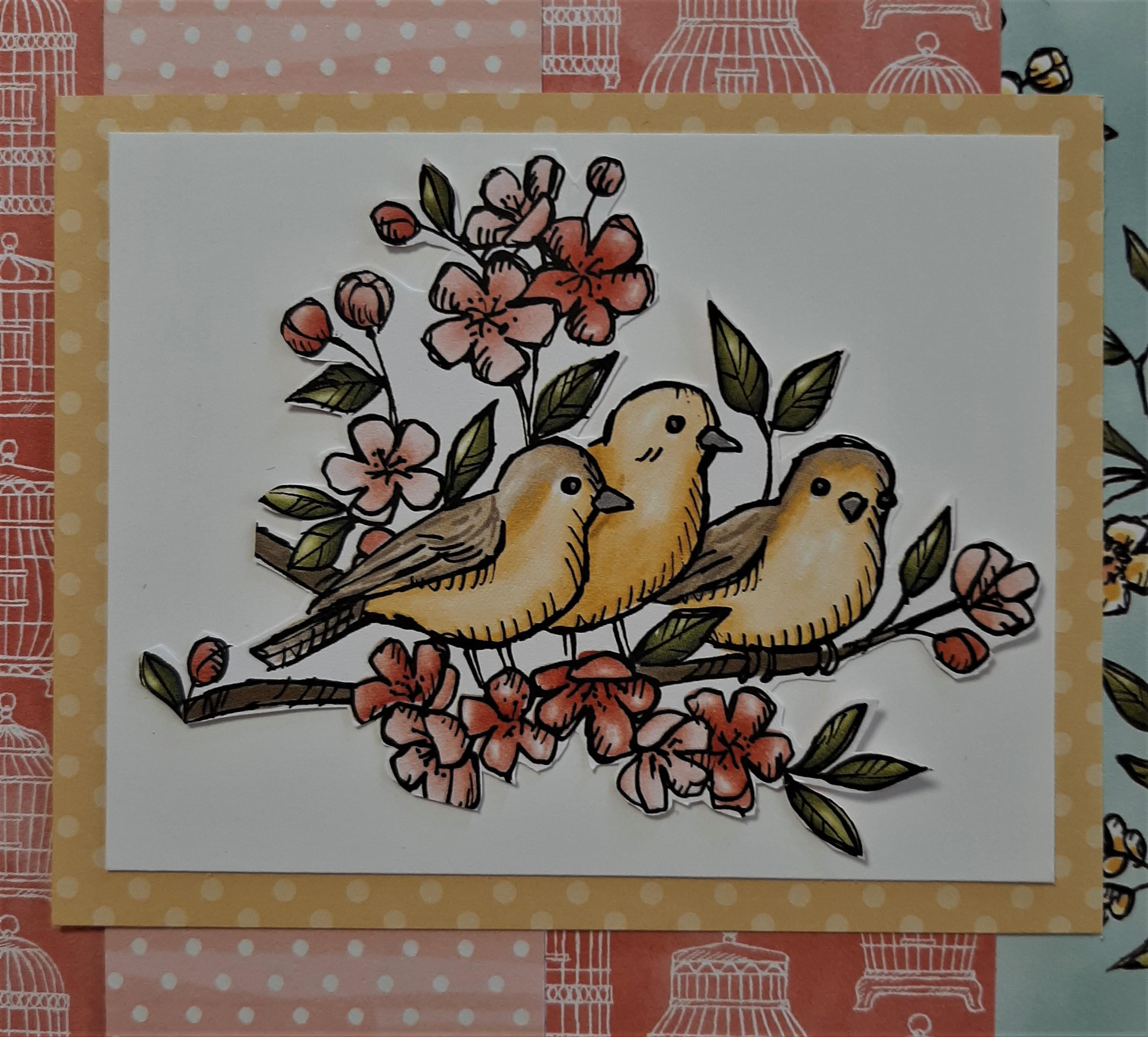 scrapbook Blog Hop 2020-06 bird ballad close up